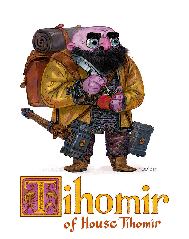 Tihomir -- Dwarf Fighter/Wizard