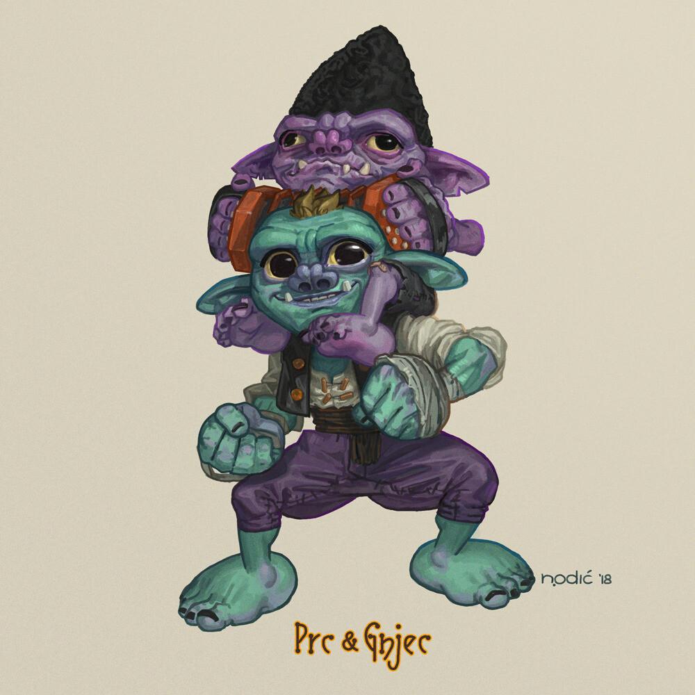 Prc and Gnjec -- Goblin Monk and Goblin Bard