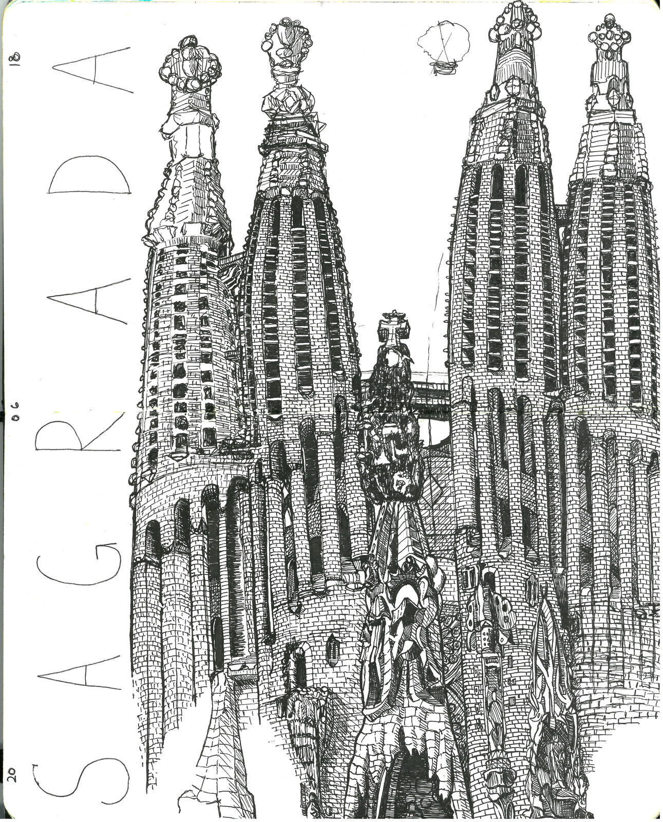 SAGRADA FAMILIA SKETCH