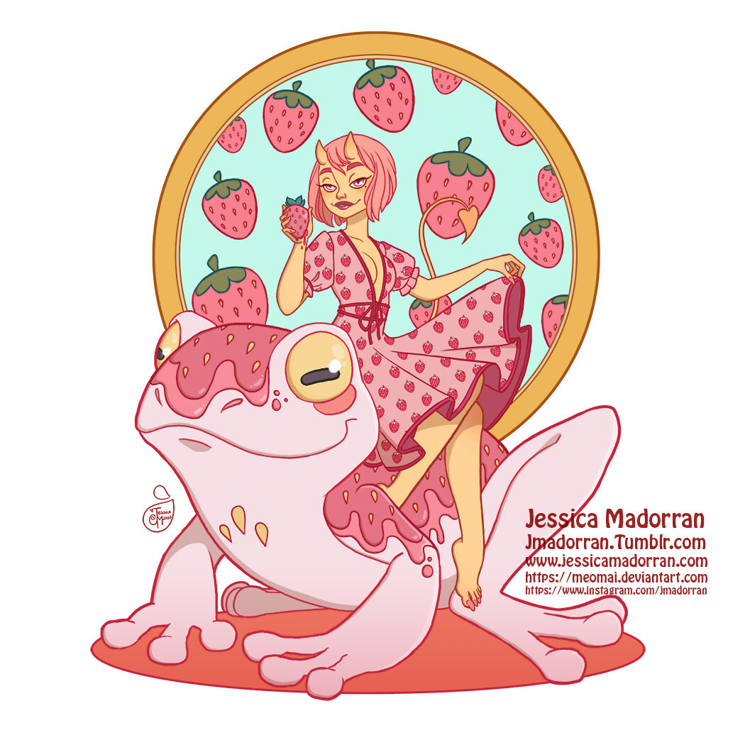 Patreon - Character Design - Strawberry Frog
