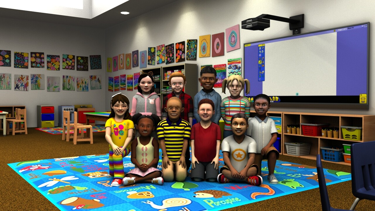 TeachLivE Kindergarten Avatars