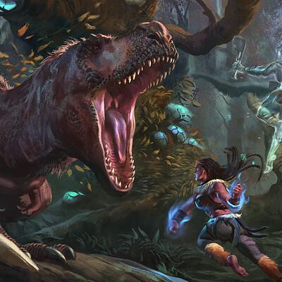 Raph herrera lomotan t rex splash recovered