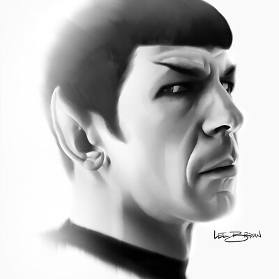 Lee bryan leonard nimoy as spock painting lee bryan art 2020