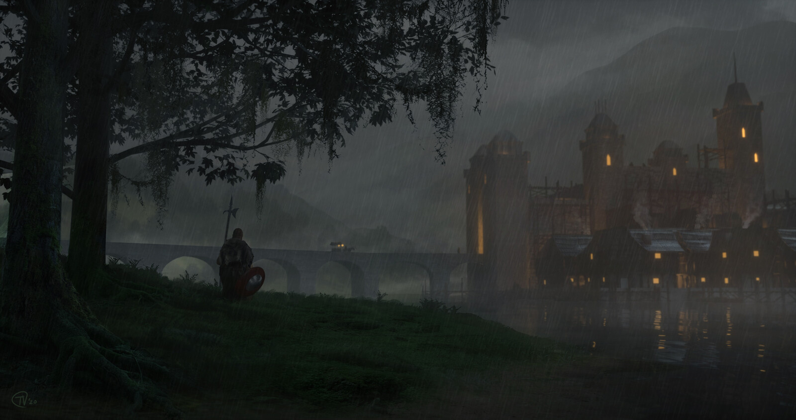 The Crystal Corruption Matte Painting - Our Lady's Rest