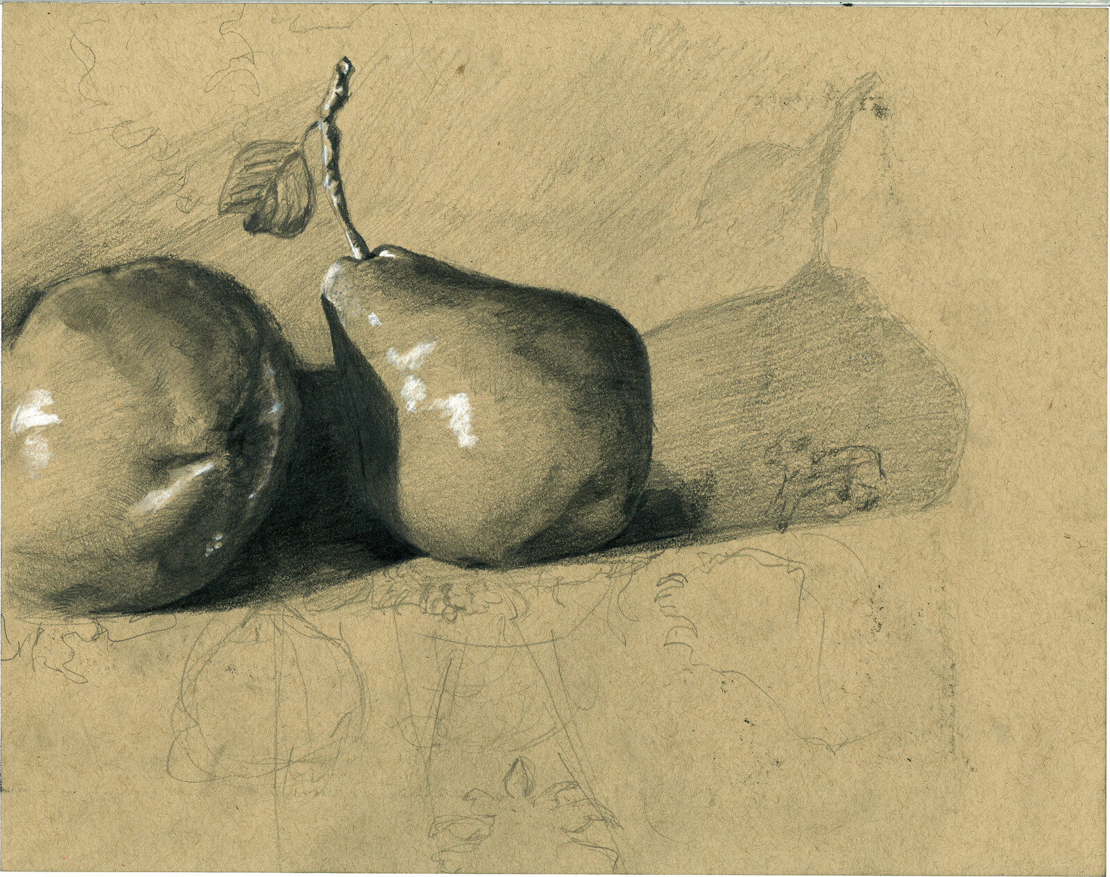 Pear Form Sketch Study
