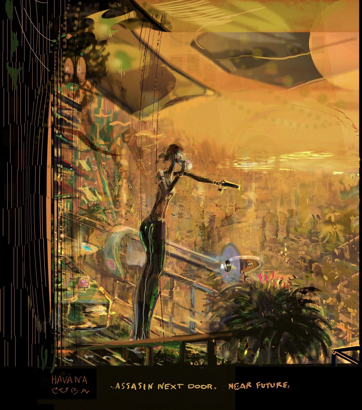 Havana StreetScene  2049. Concept sketch