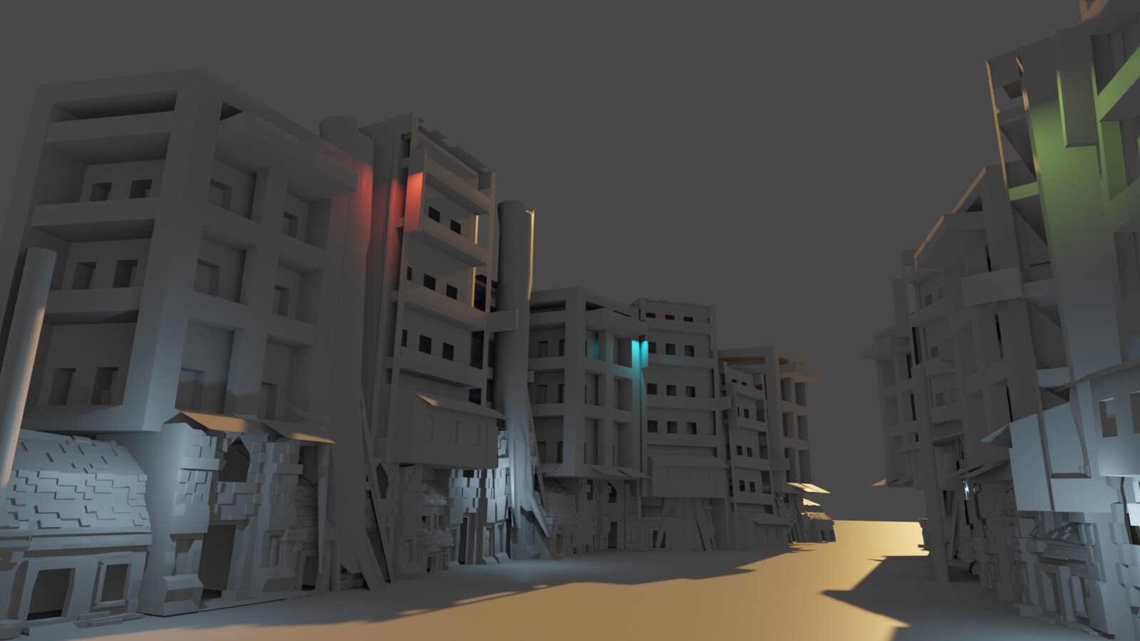 Initial blockout and render.
