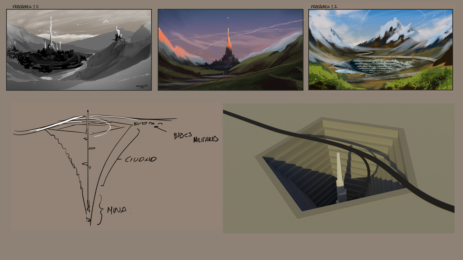 Prelim rough sketches and basic concept of the city.