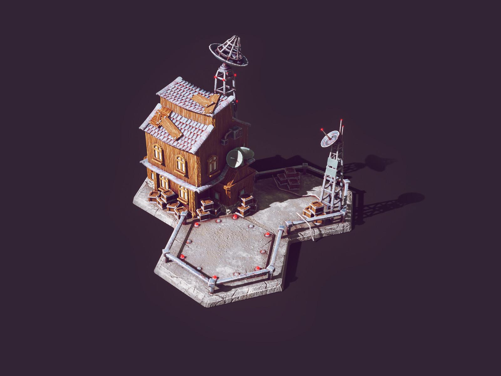 3d Low Poly Game Buildings | Low Poly Illustration | City Builder | Render in Unity 2018  | Blender