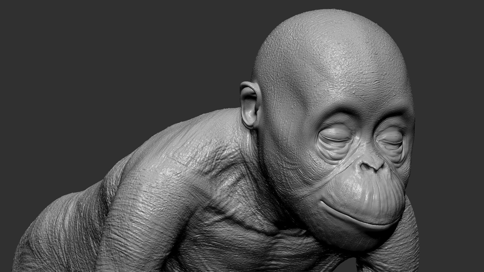 hand sculpted details using HD geometry in zbrush
