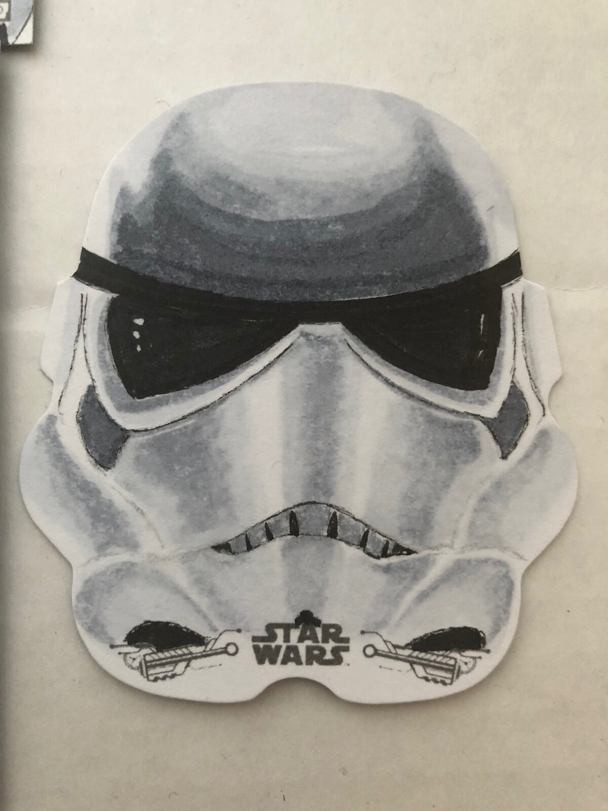 Art created for Topps trading cards Star Wars ANH B&W