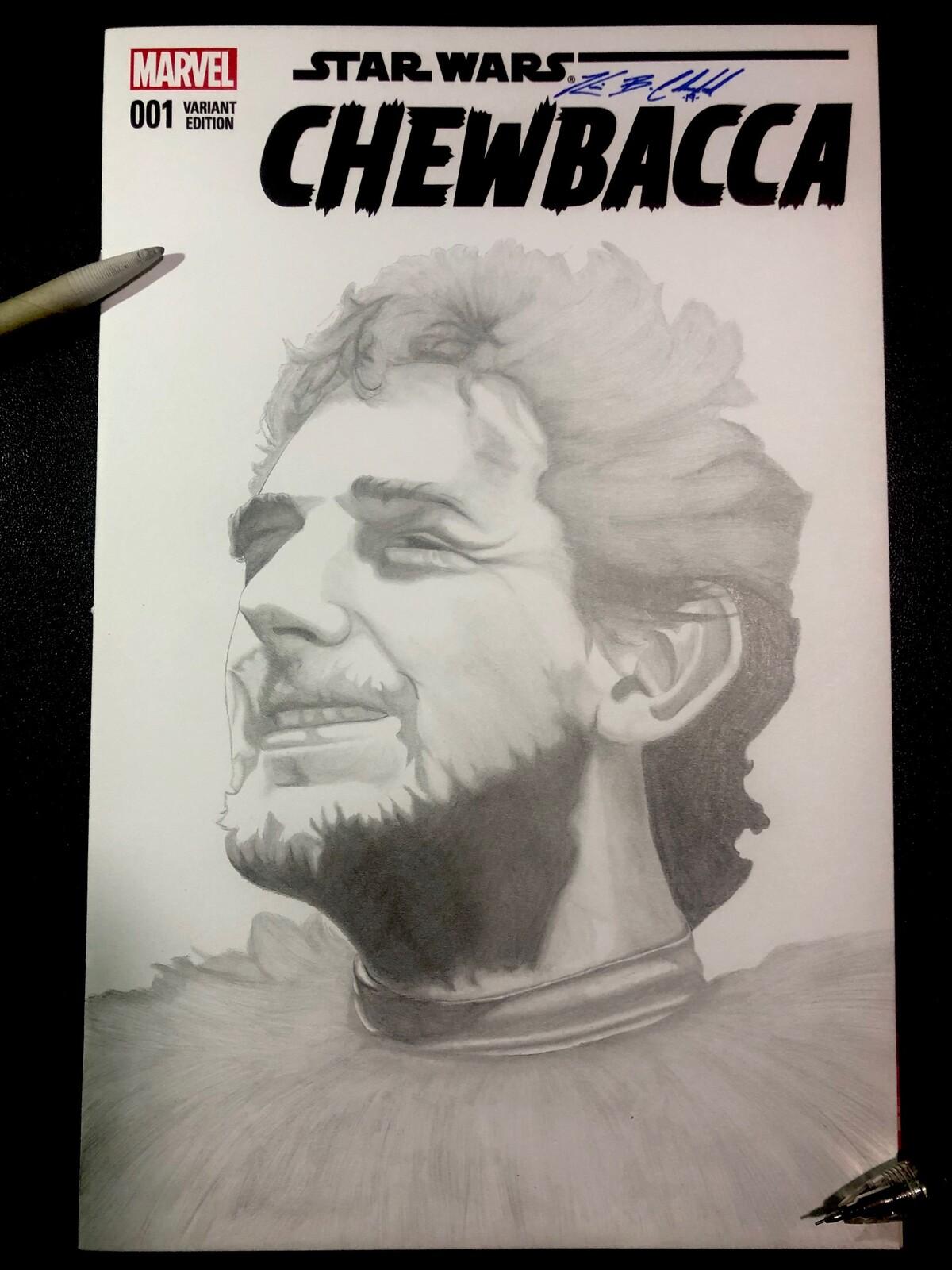 Comic cover art tribute to Peter Mayhew
