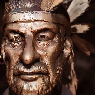 Surajit sen sardaar2 1 digital sculpture surajitsen sept2020ab