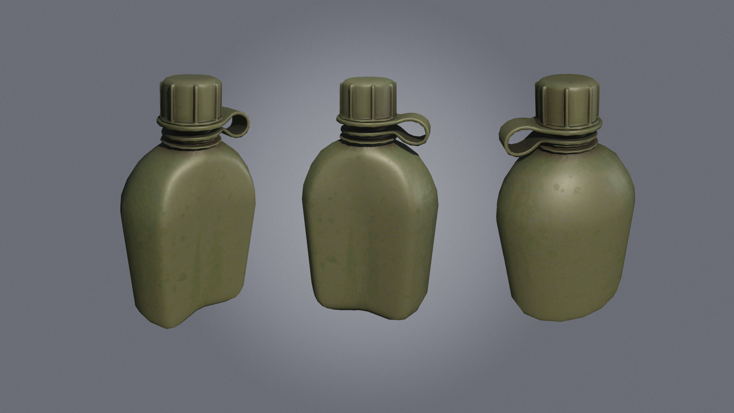 Military Style Canteens, used to hold water.
