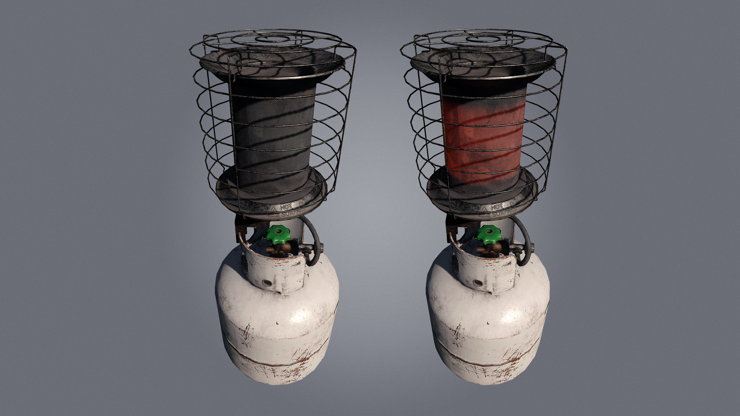 Gas Bottle and Heater Combo, used in basebuilding as heating