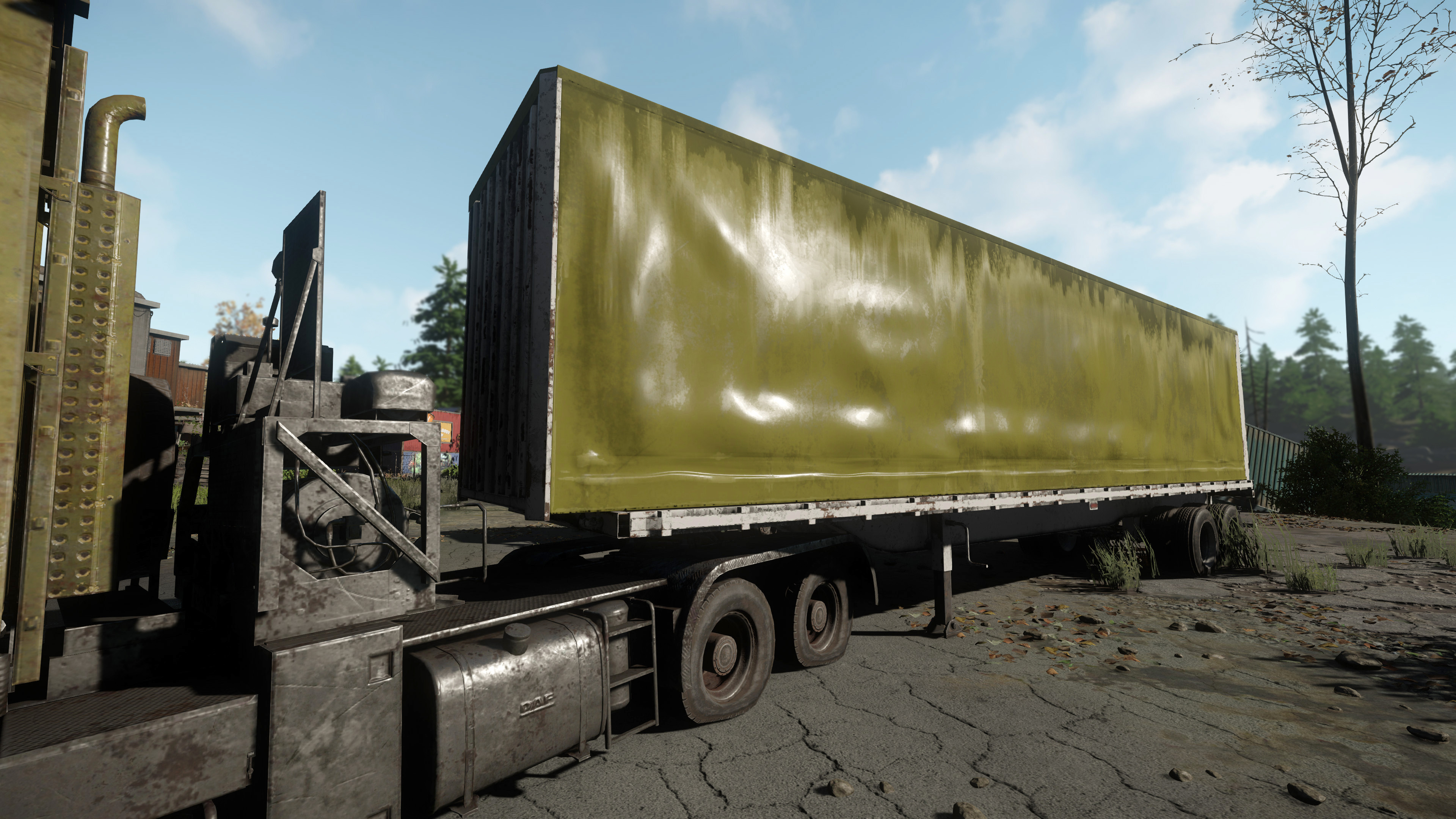 Semi Trailer, I was responsible for creating the Trailer only. The Truck is an existing model that I did a texture conversion on to suit.