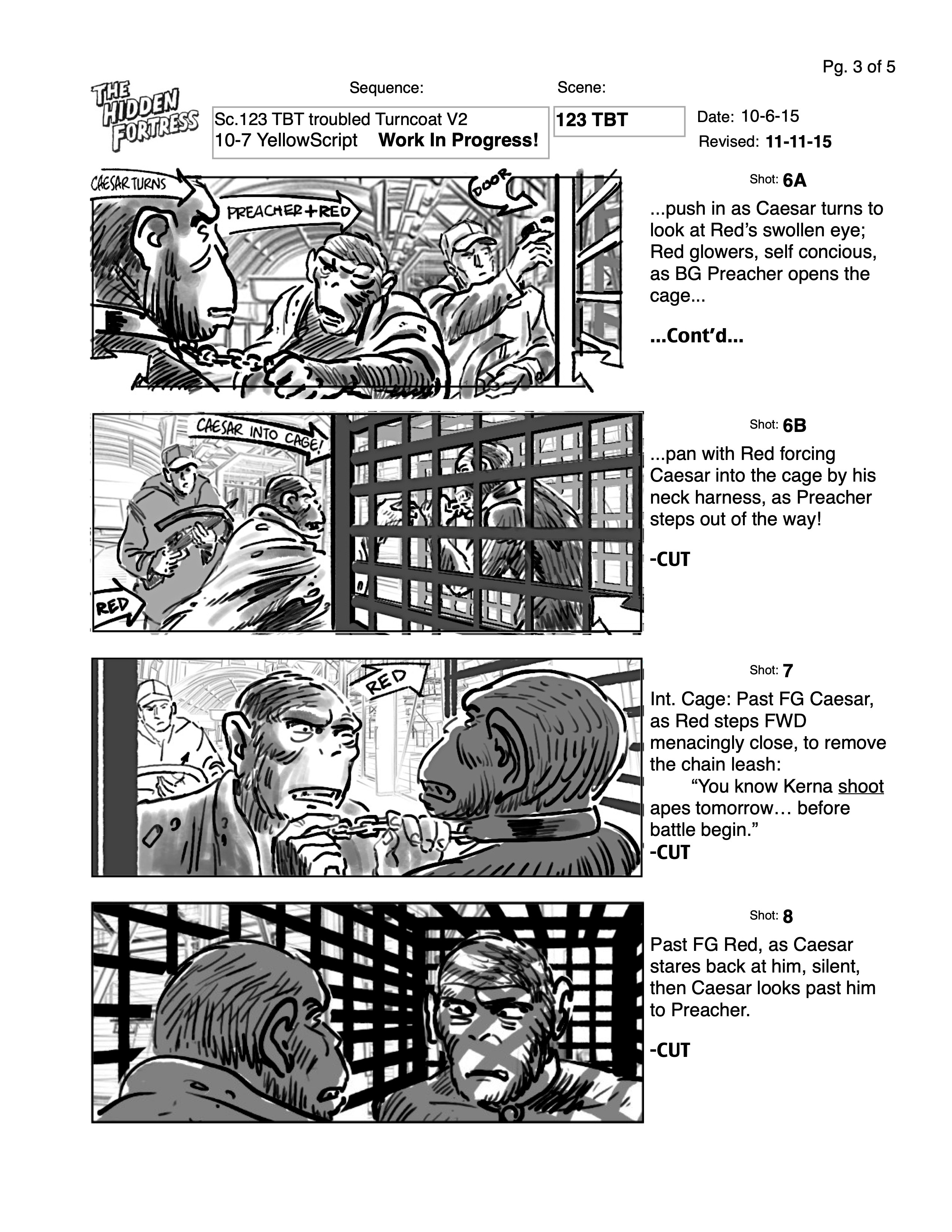 The backgrounds here were crucial to understanding much of the later character movements and story, so I included them throughout.