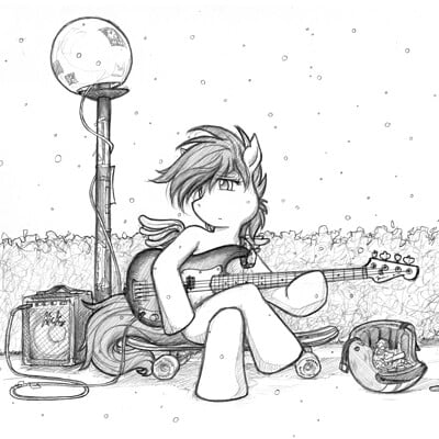 Fred gallagher sx scootaloo in snow with a p bass by fredrin d6hmydx