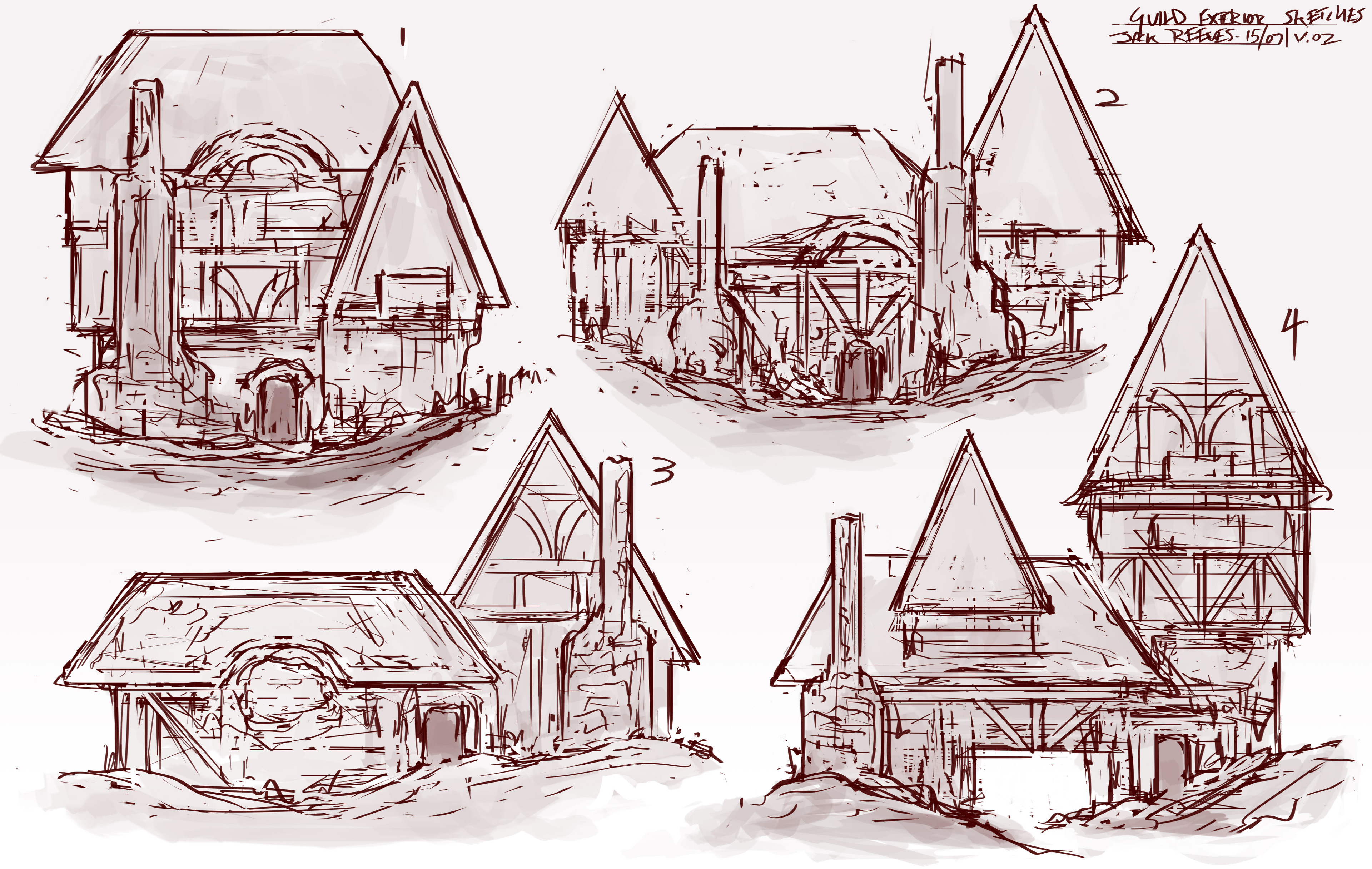 first side view sketches