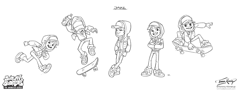 Jake's poses