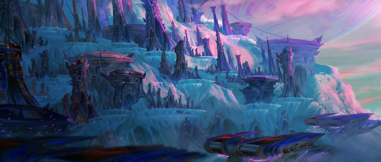 Frozen World with Centauri City