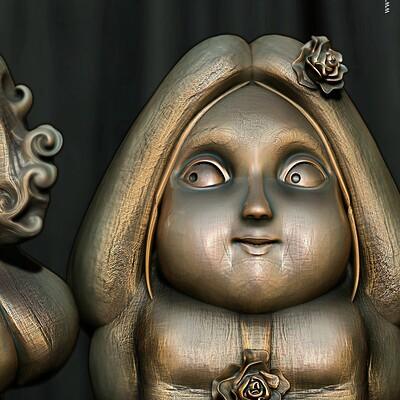 Surajit sen dwarf couple2 1 digital sculpture surajitsen sept2020ab