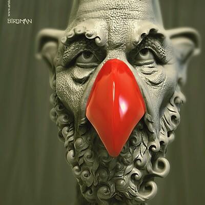 Surajit sen birdman2 2 sept2020 surajitsen digital sculpture