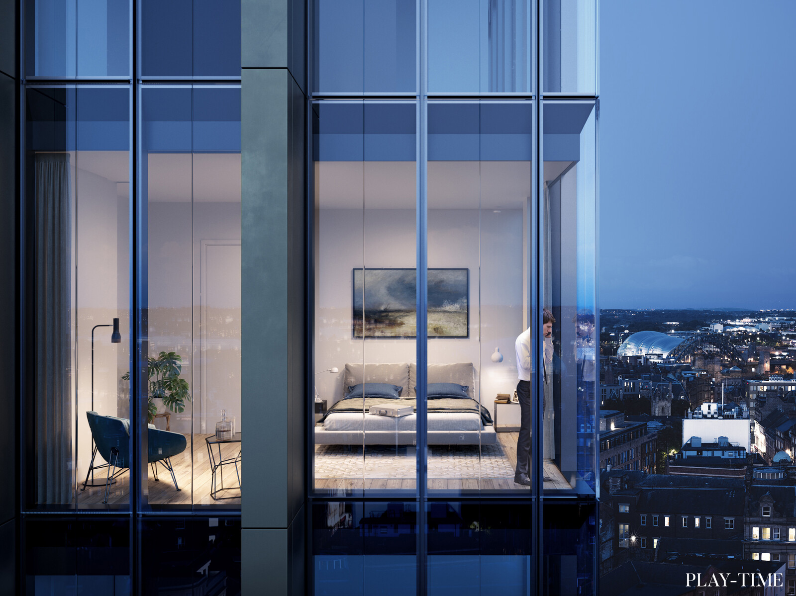 Residential tower by FaulknerBrowns Architects