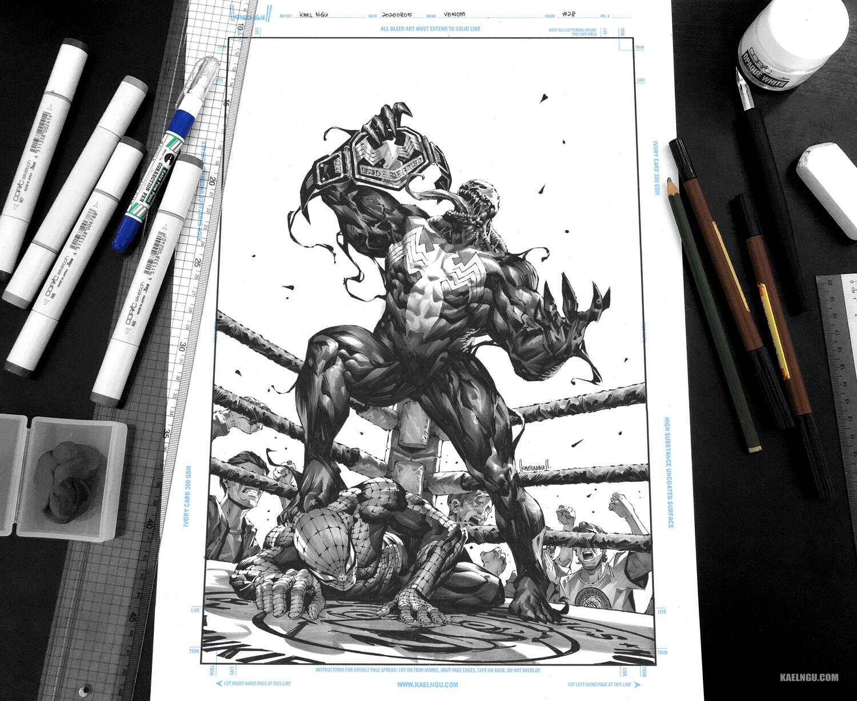 Venom #28 Ink & marker on paper