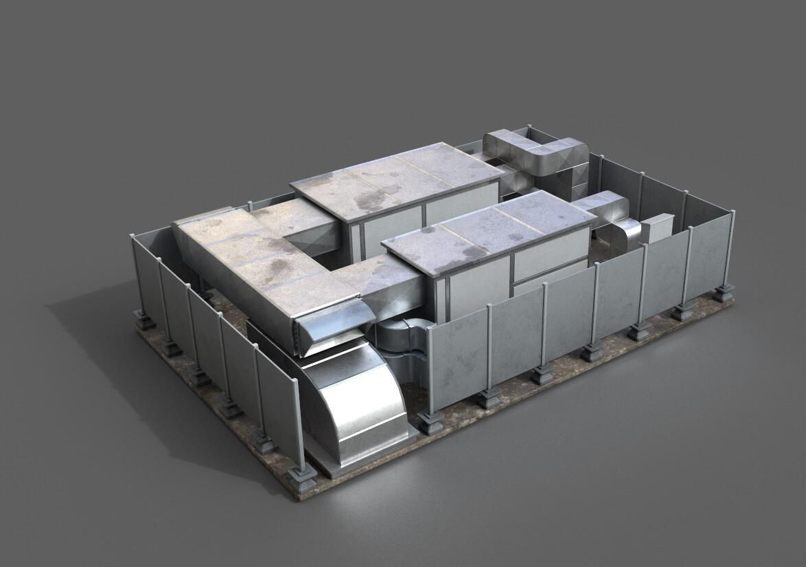 Roof ventilation prop