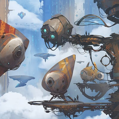 Alejandro burdisio between the clouds artstation