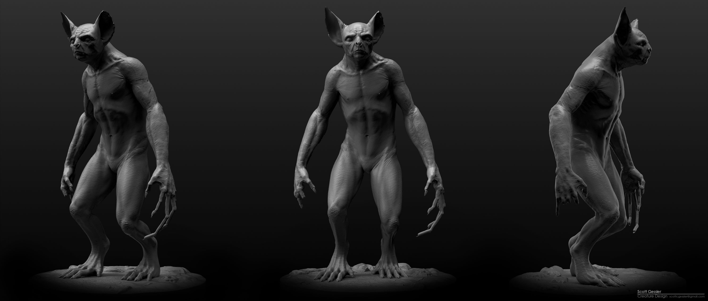 Sculpted in Zbrush
