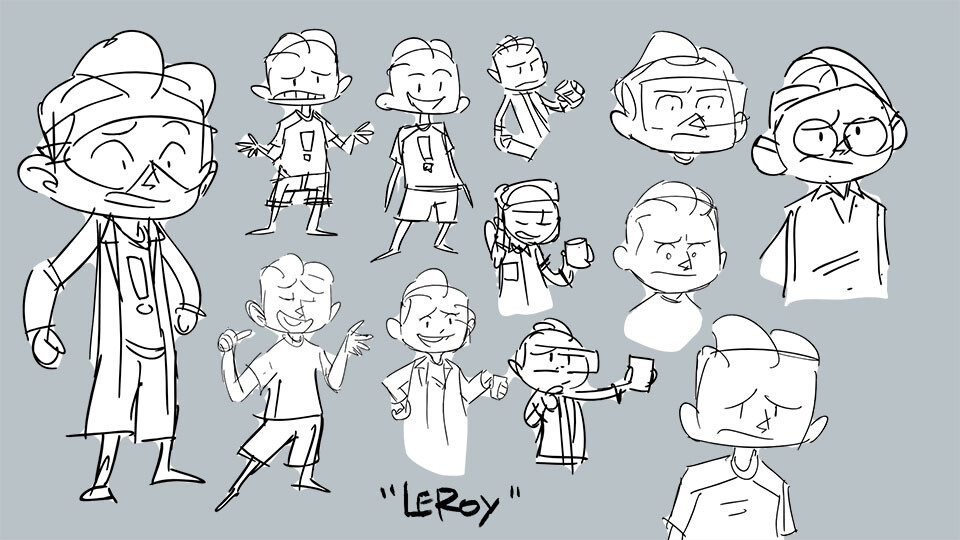 Designing the Alter Ego. Leroy is the name of my Great Uncle, and is super fun to say.