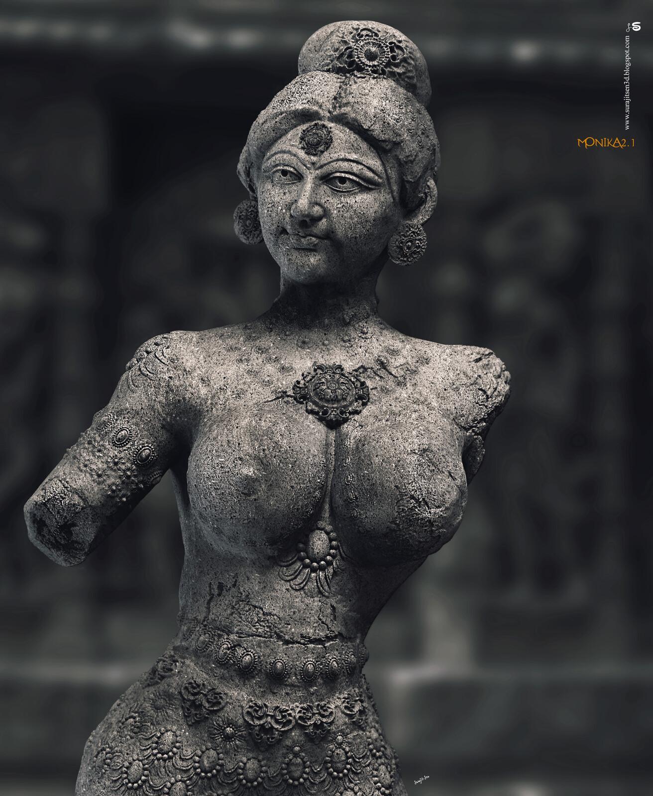 Monika2.1 Digital Sculpture Inspired by Indian Art and Sculptures. Background music- #hanszimmermusic