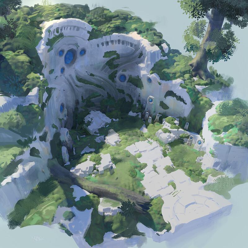 Runic Stones around Yggdrasil's Rest
