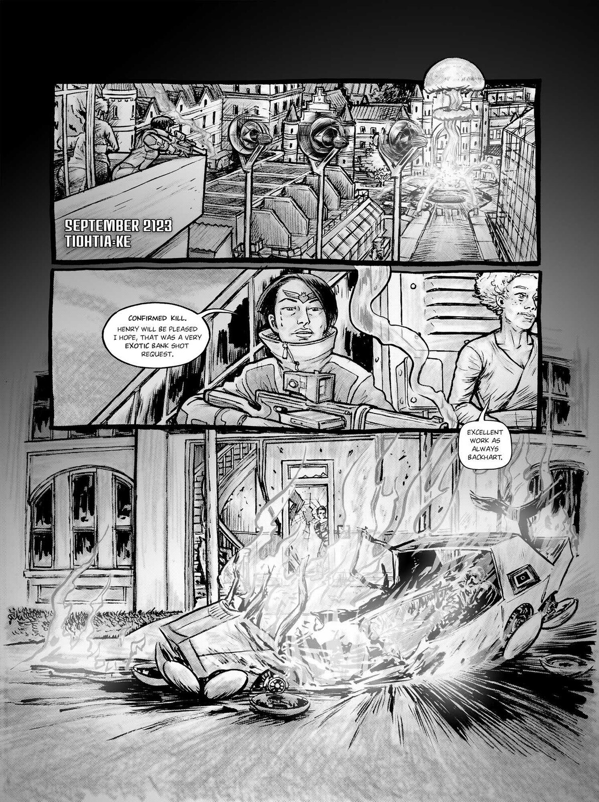 A page from The New Armageddon Blues.