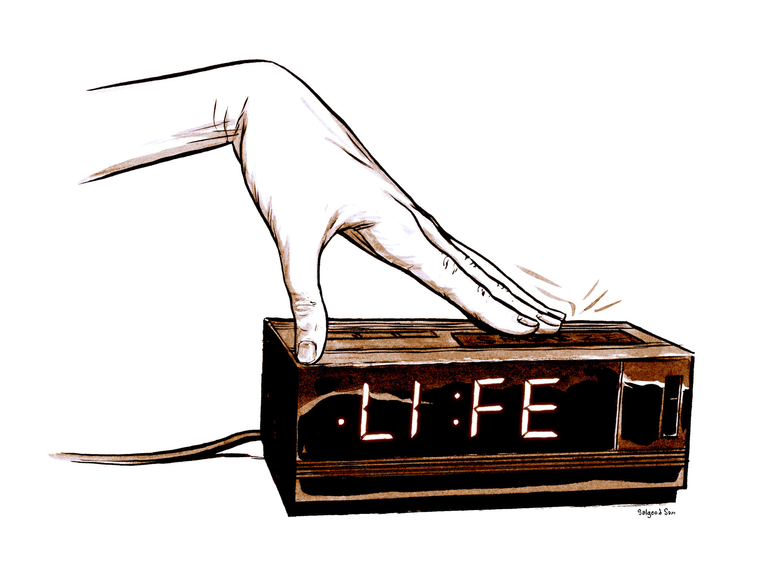 Life on snooze. Cover art from Dream Life book one.