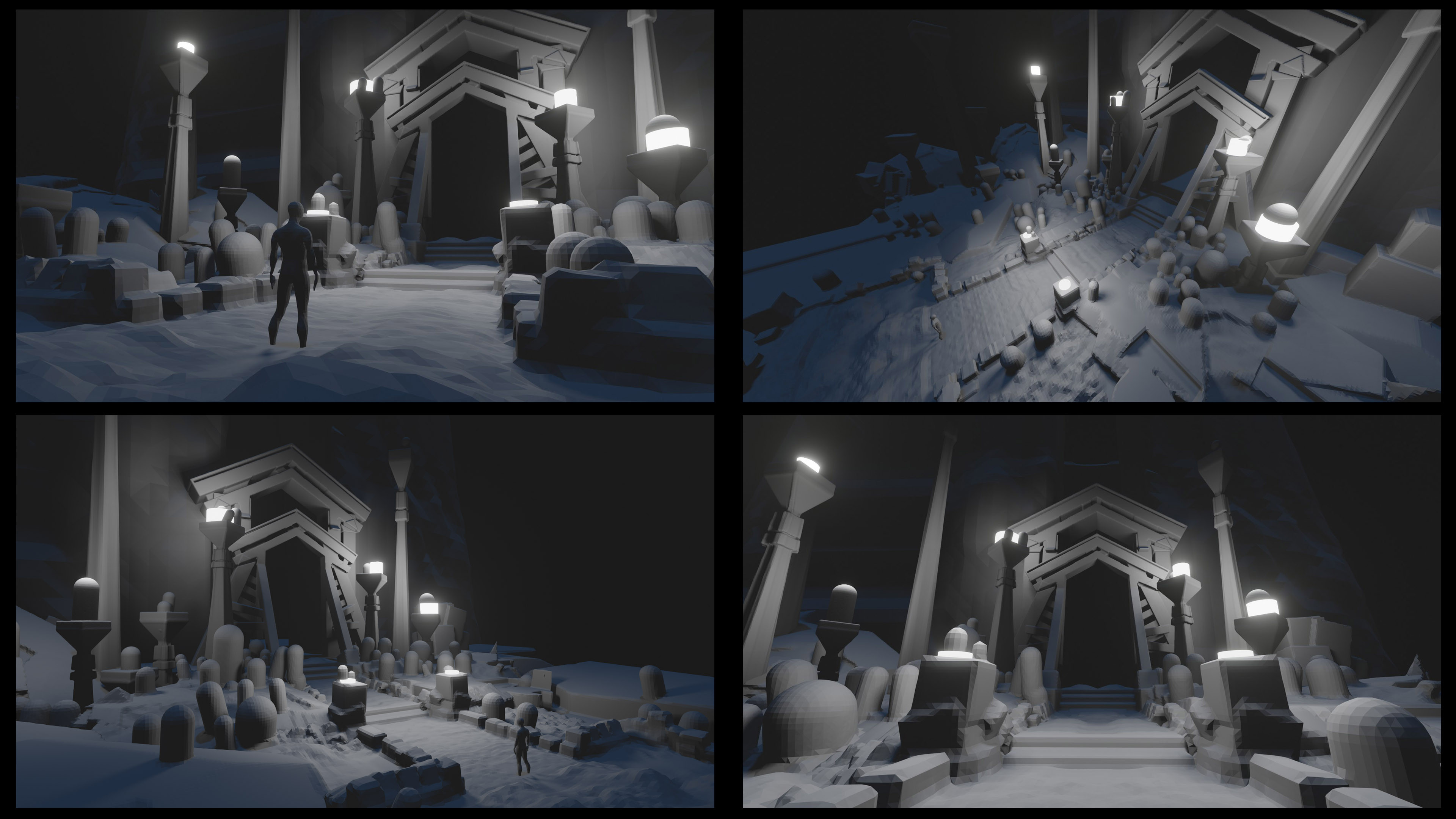 Blender was used to explore lighting and shot options