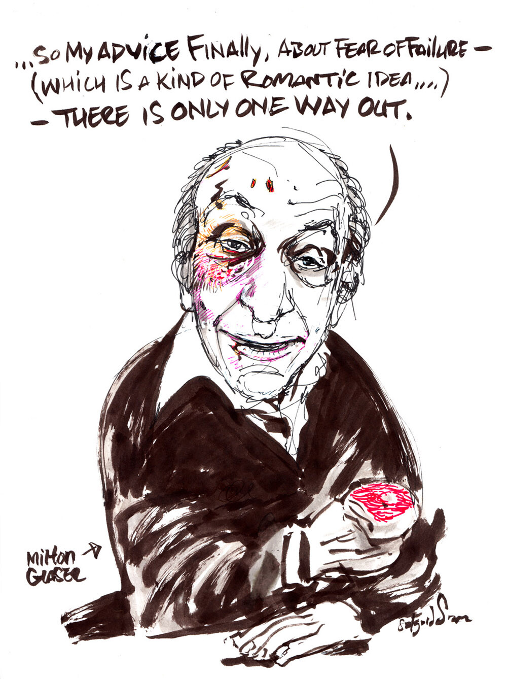 Milton Glaser in ink and pens.