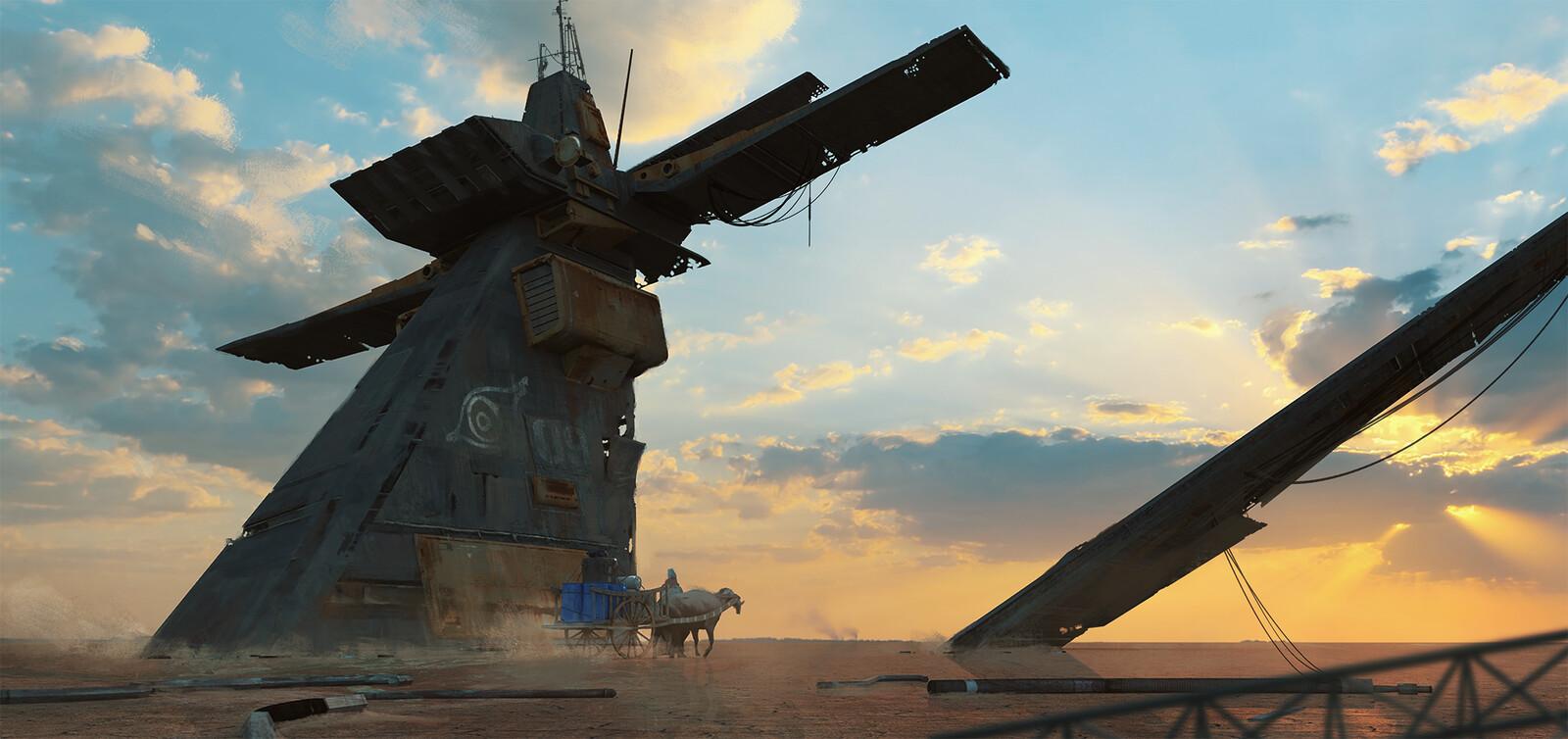 The wreck of the MINKE.