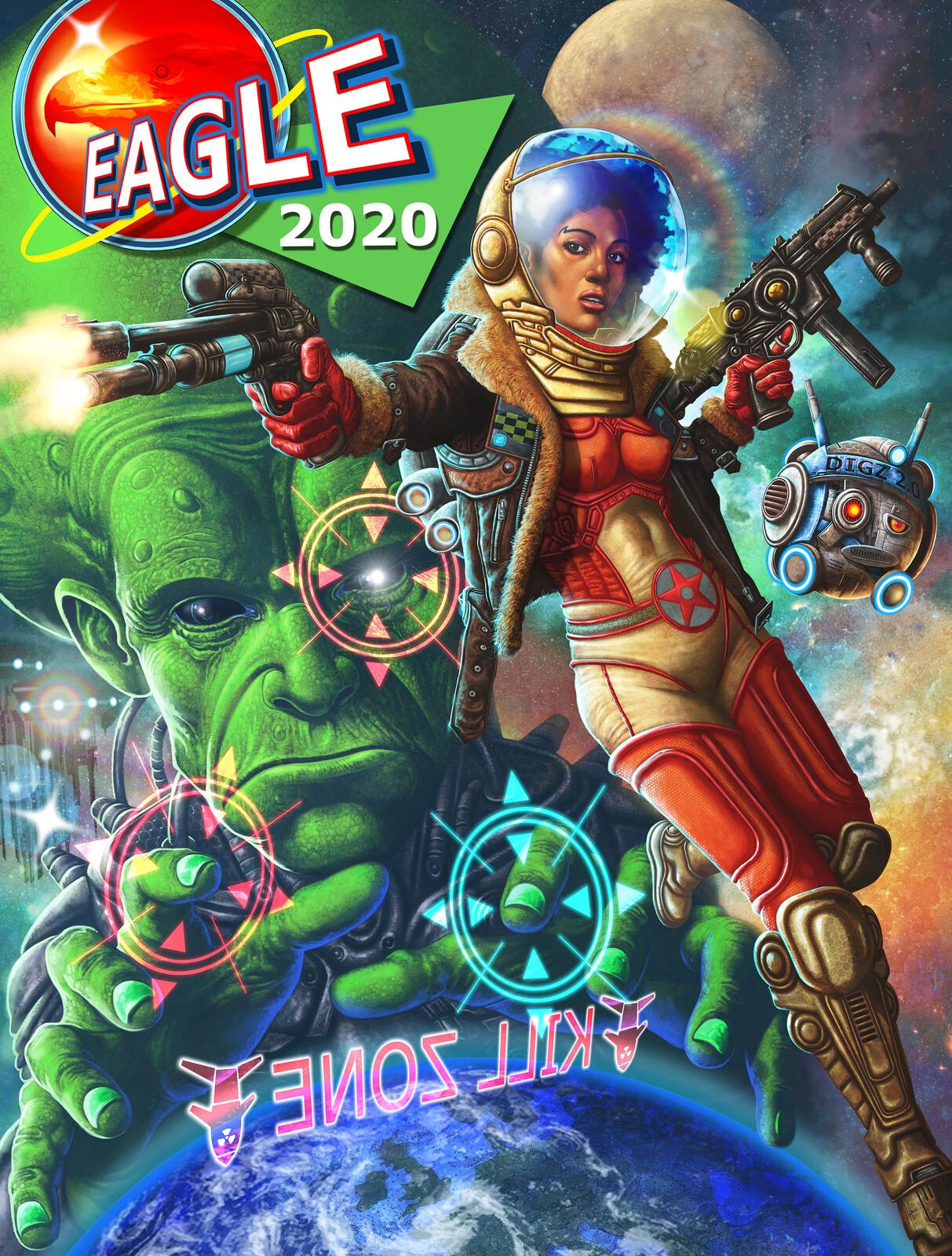 Dan Dare 2020 with eagle text
