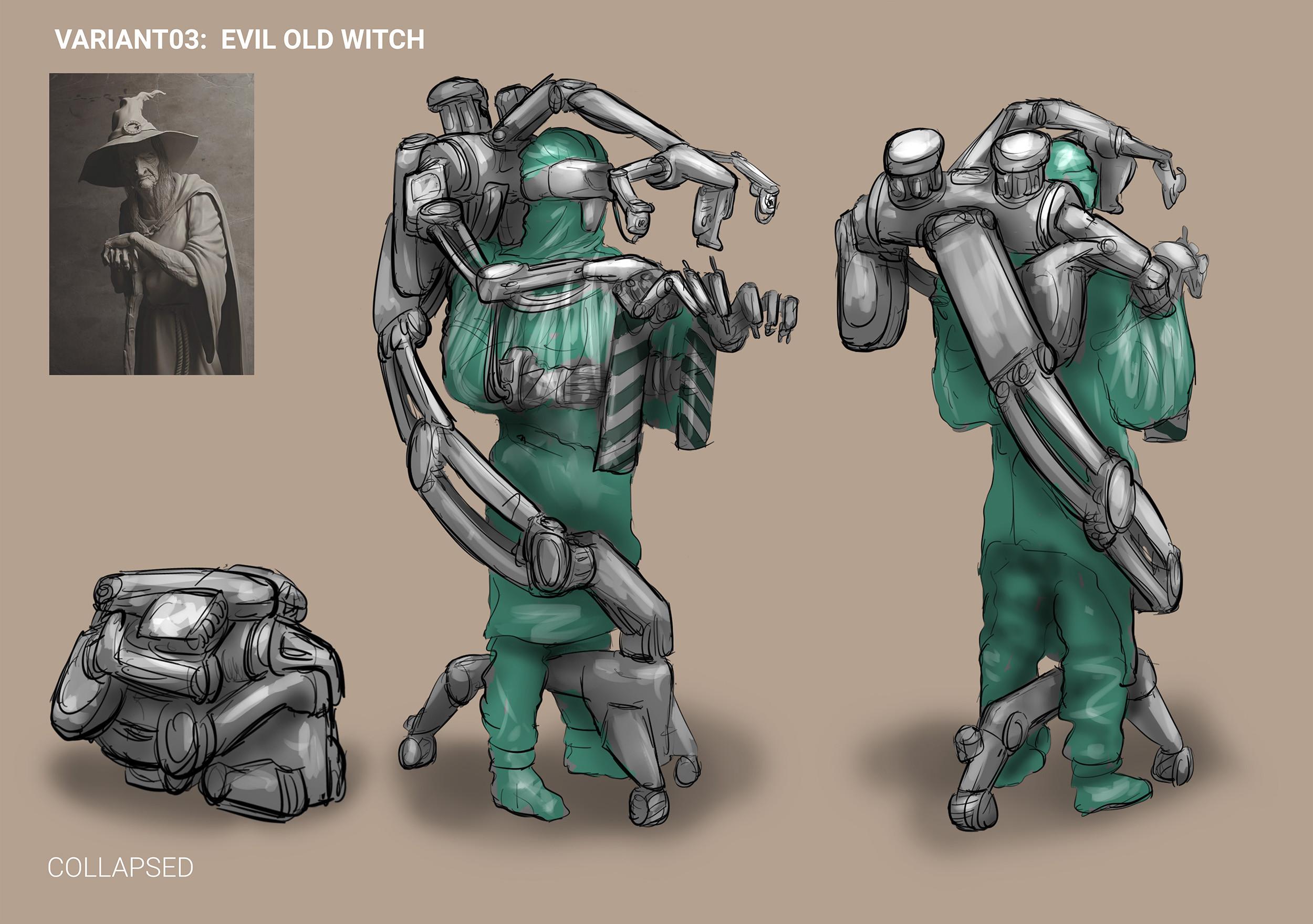 Sketches: Exosuit variant 3
