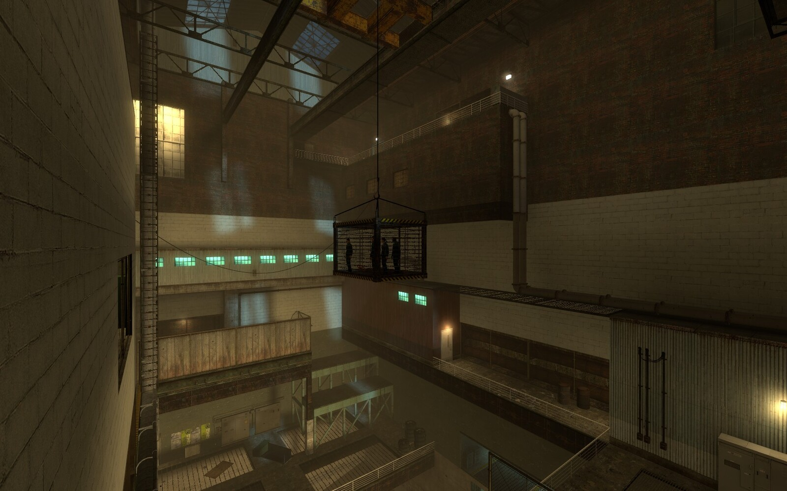 The level was built to be contained in a few areas as possible yet still contain a lot of content. A large warehouse was built to house a number of challenges for the player to take on.