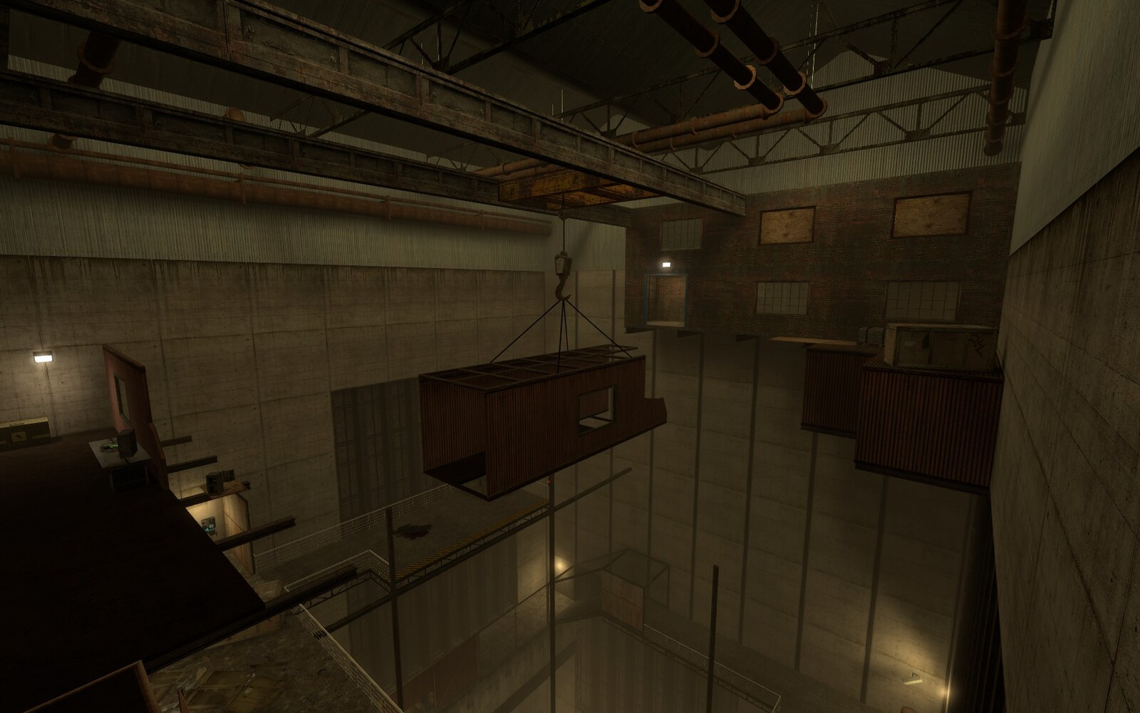Lights where used in the level to highlight key areas that the player would find useful.