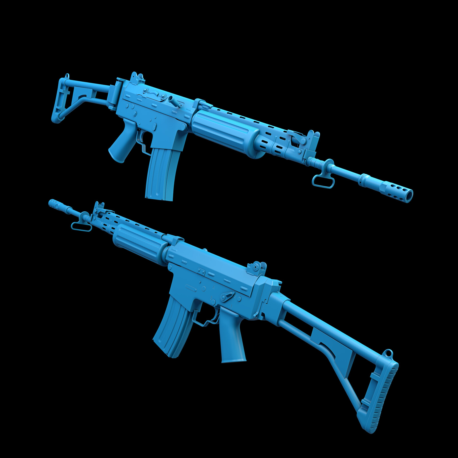 FN FNC High Poly