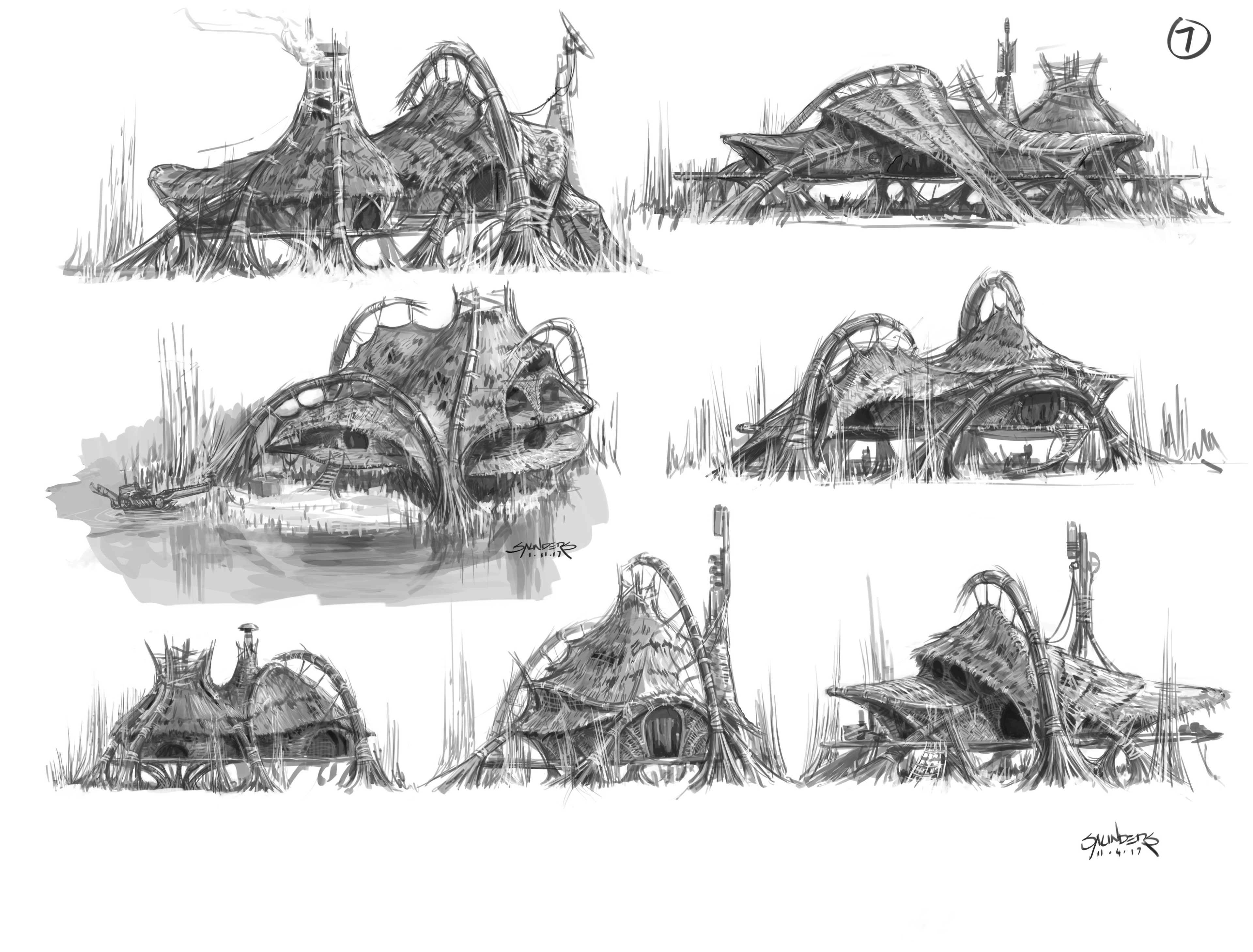 One of many pages of quick sketches for how the reed-based architecture might  work.