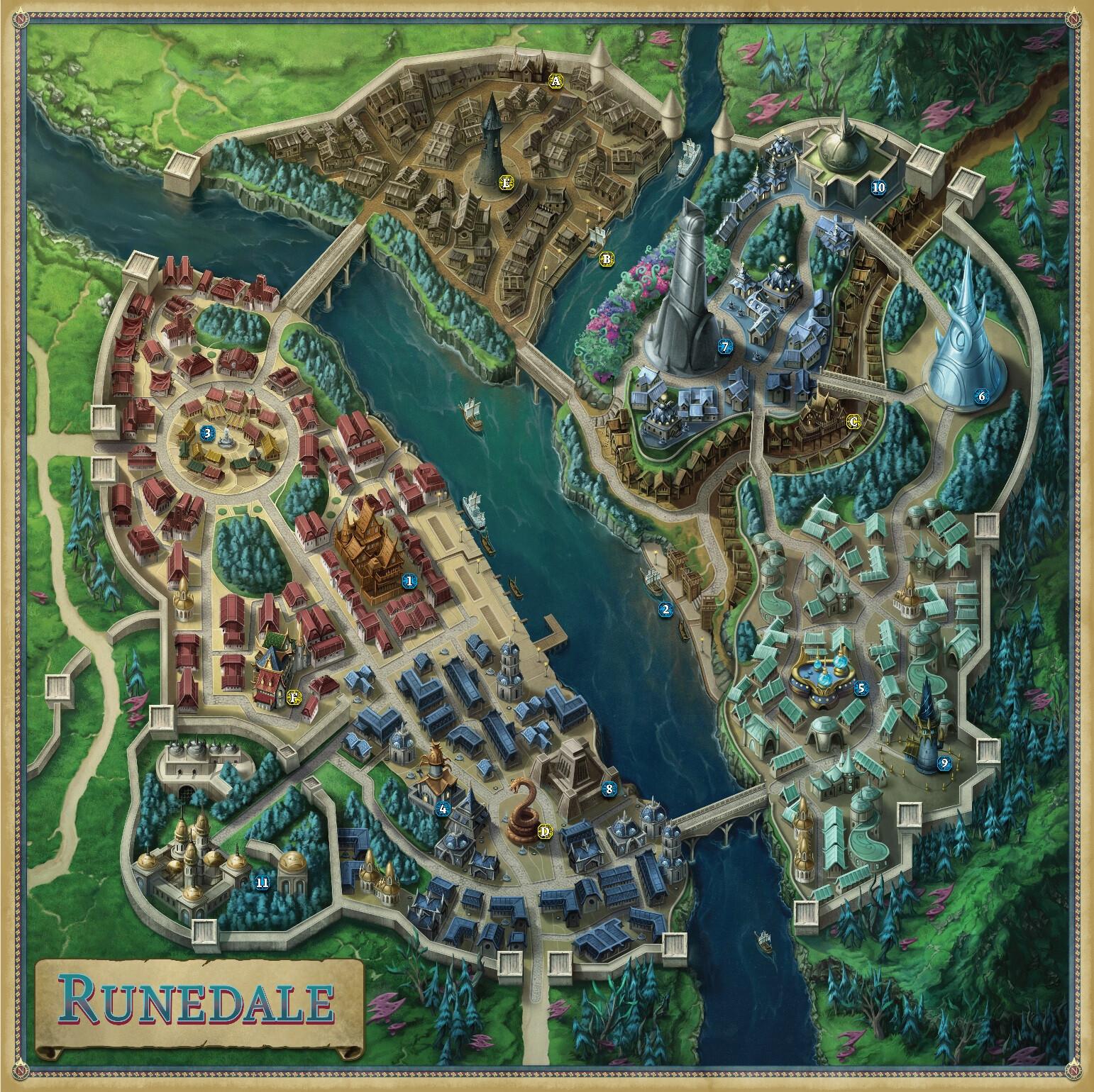 City map of Runedale
