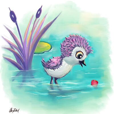 Okan bulbul little re fish001