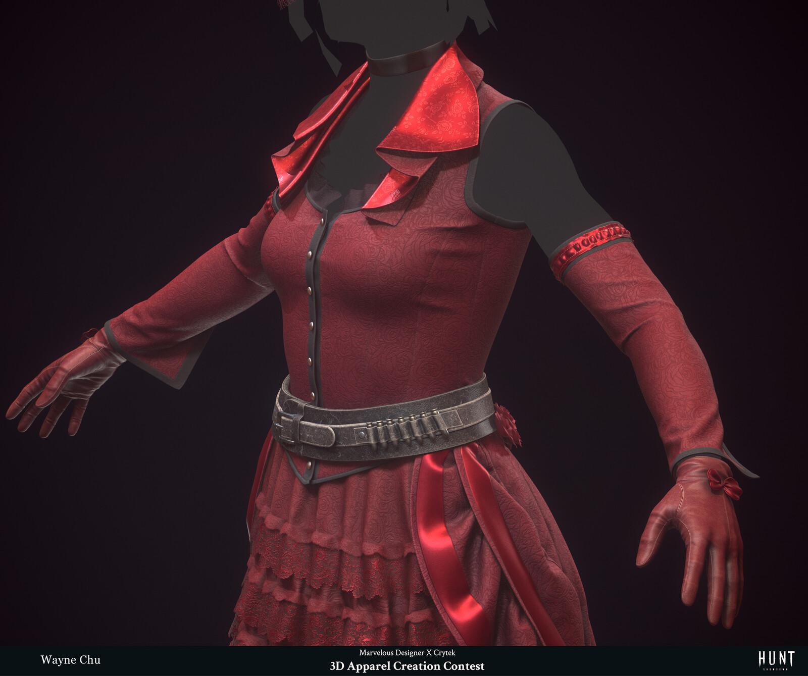 Rose's Thorn - Marvelous Designer x The Hunt Contest