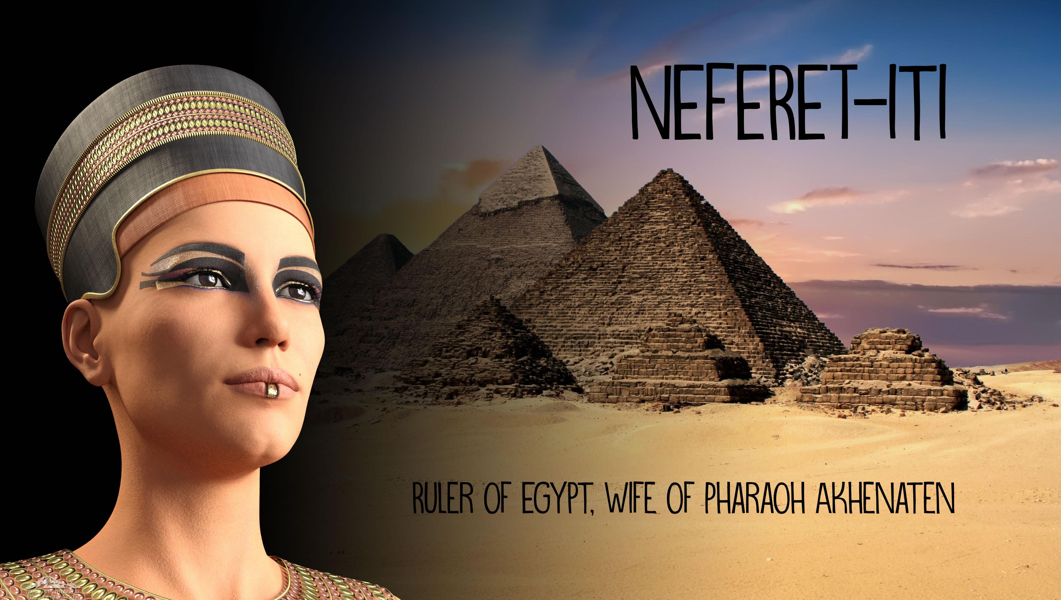 Neferet-iti, poster 1 background photo by  Pete Linforth